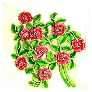 Jewelry - Rose bush brooch....